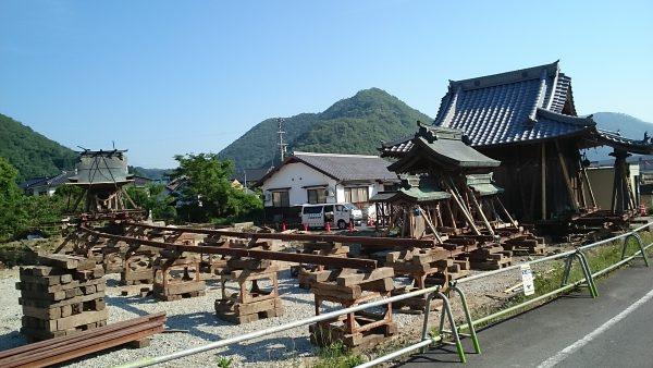金毘羅神社移動嵩上工事