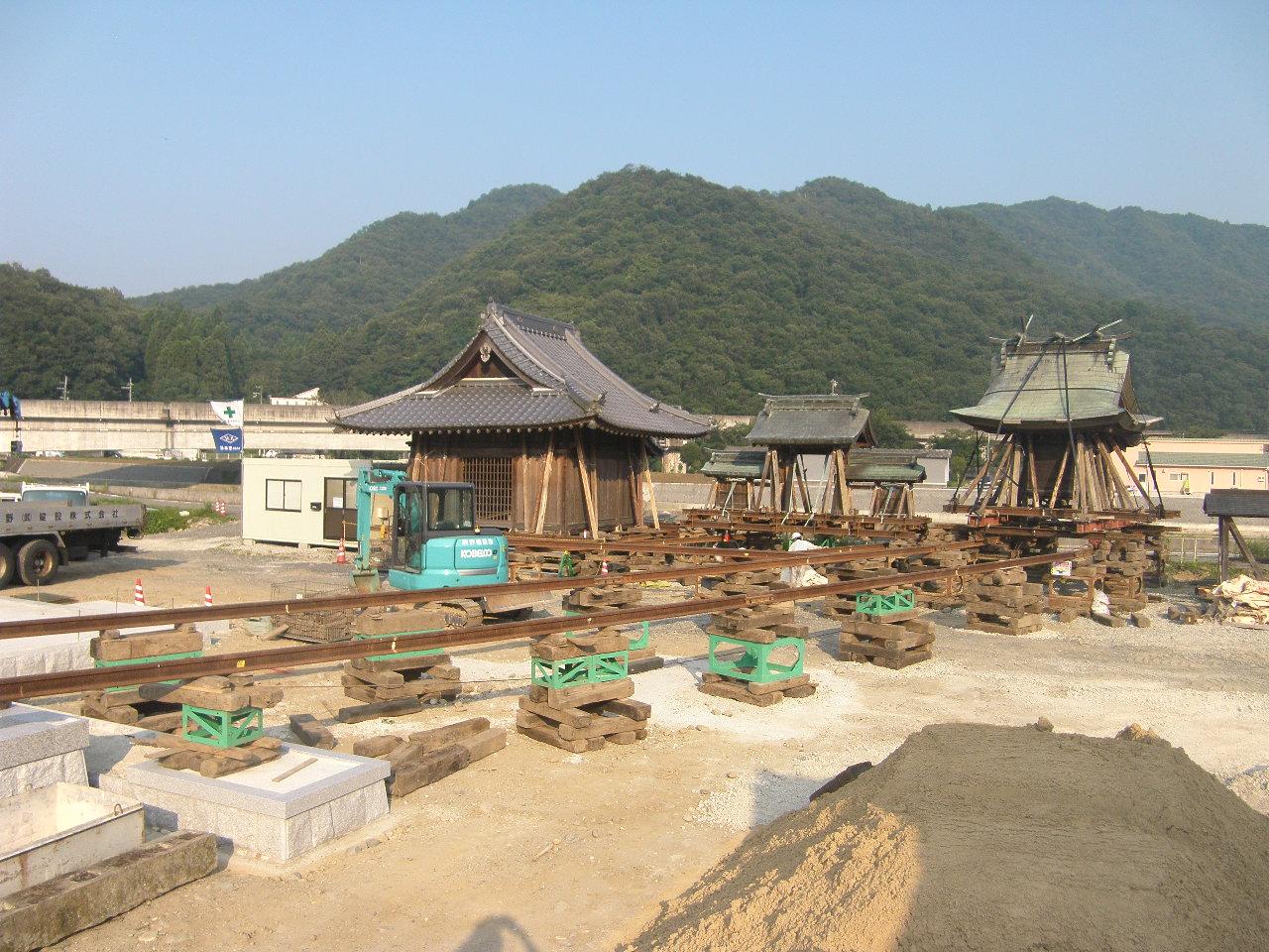 金毘羅神社移動嵩上工事1