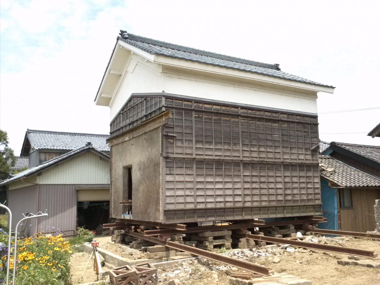 A様邸(蔵)移動工事1